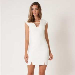 NWOT Black Halo Ivory White Dress size 2